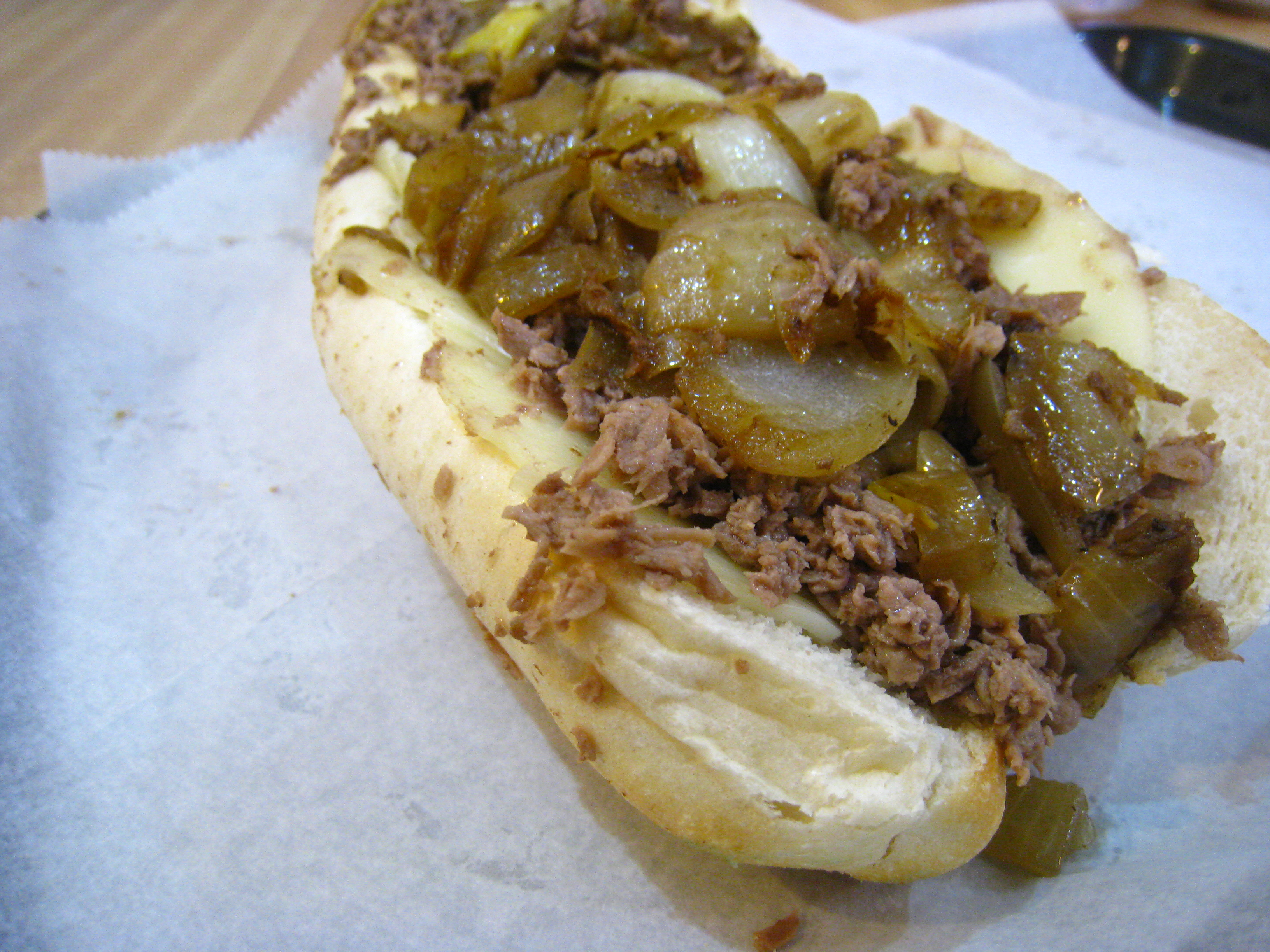 the best cheesesteak ever with whiz and onions. Pat's and Geno's ...
