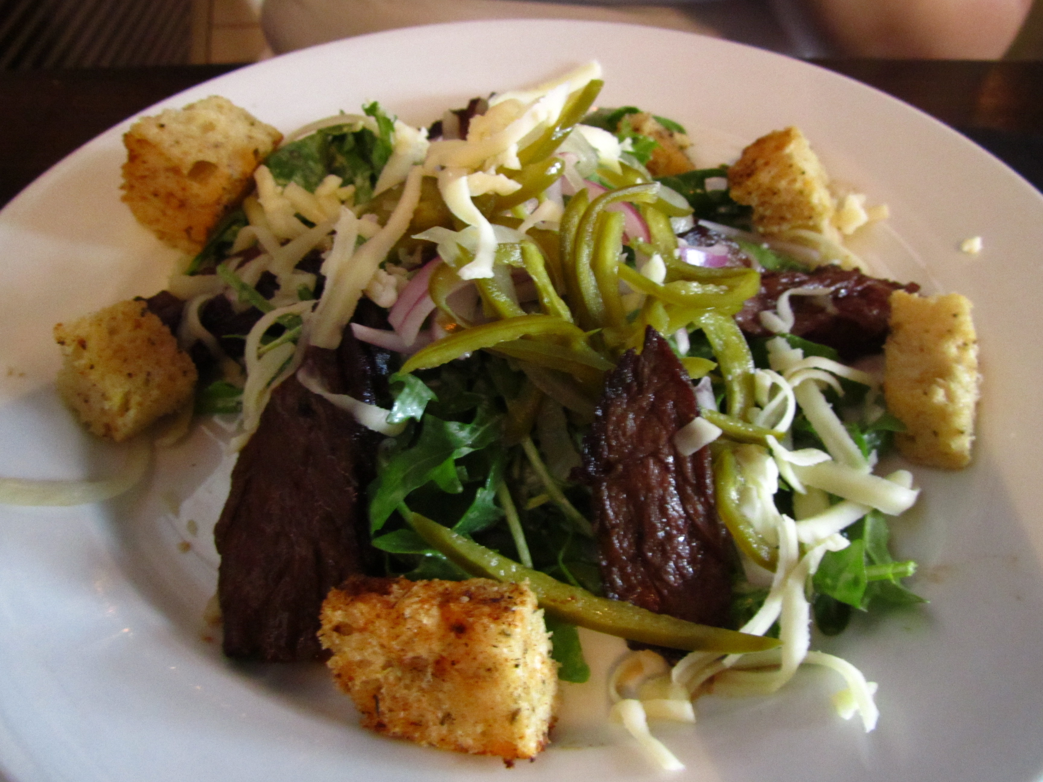 Philly Cheese Steak Salad: With Griddled Hanger Steak, Shaved Red ...